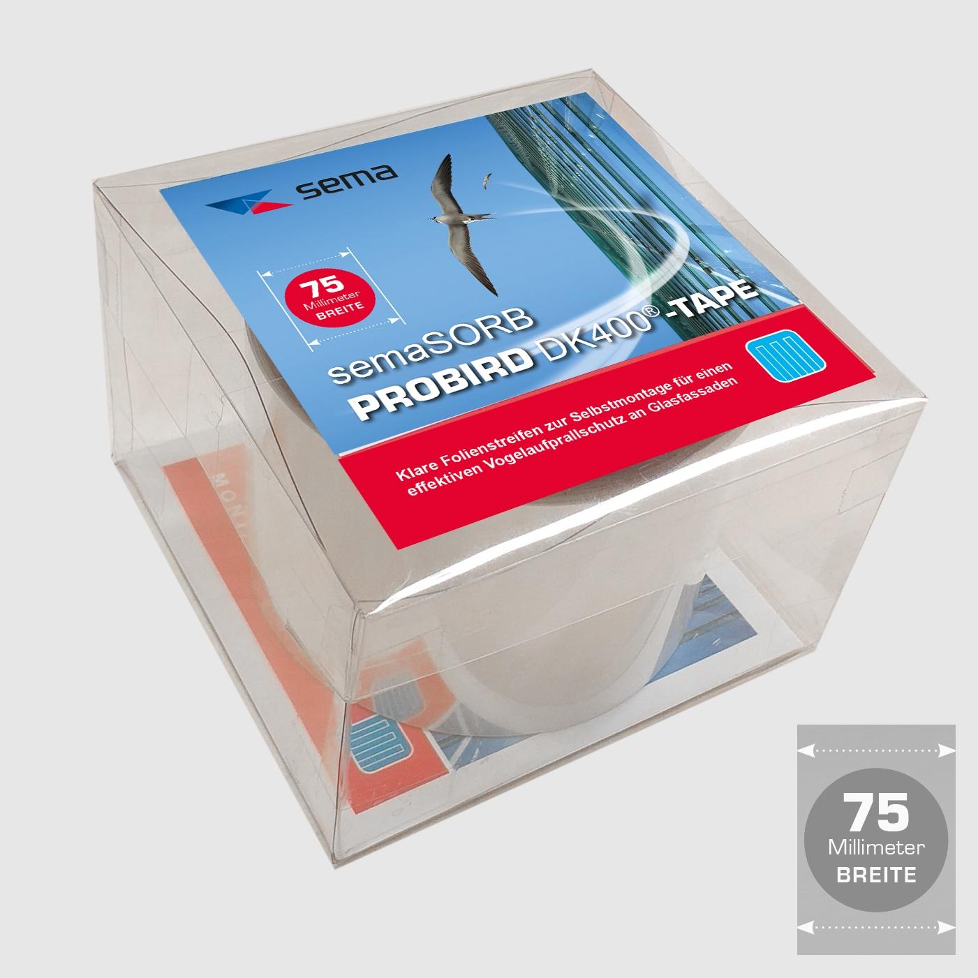 Vogelschutzstreifen semaSORB PROBIRD DK400 Tape, 75mm breit