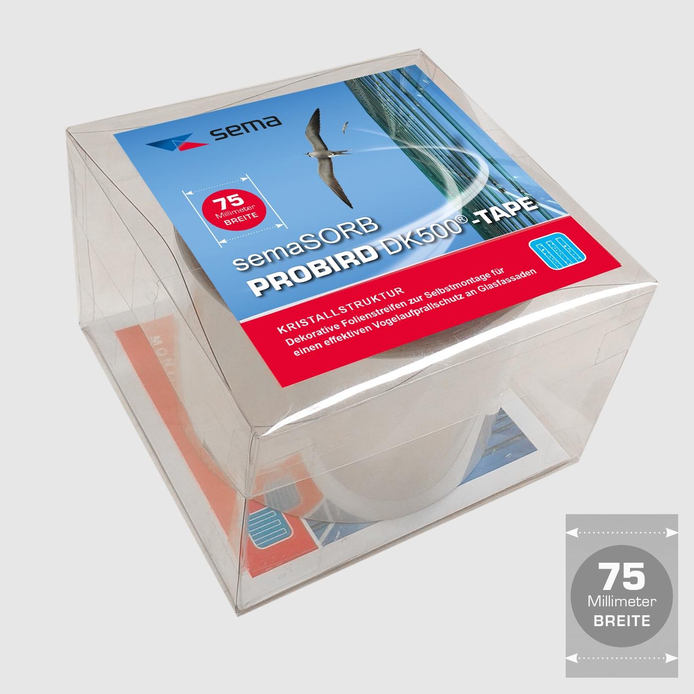 Vogelschutzstreifen semaSORB PROBIRD DK500 Tape, 75mm breit