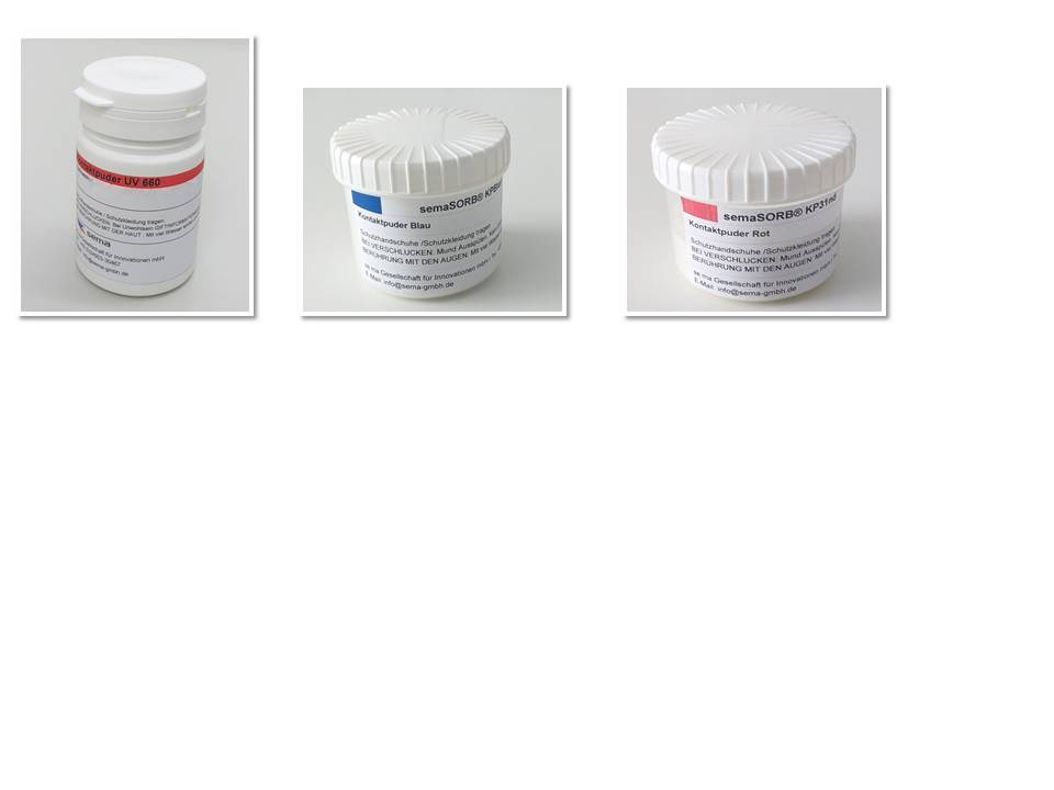 Chemical trapping powder