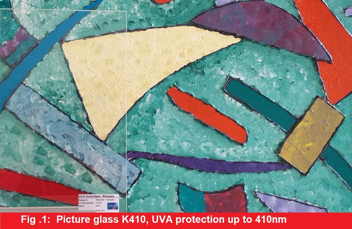Bilderglas K410 - UVA Schutz bis 410nm