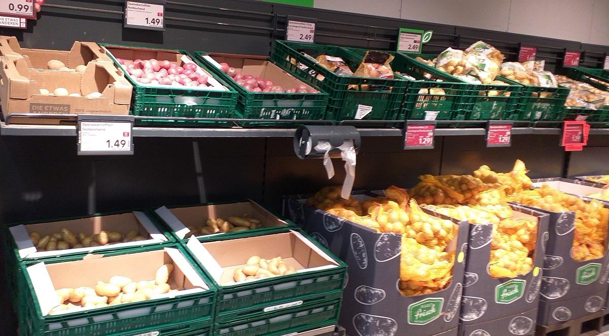 At a supermarket